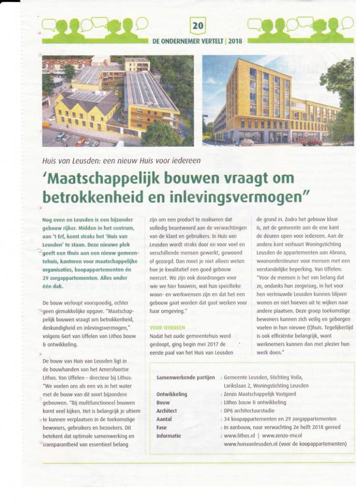 In het ¨Huis Van Leusden¨ en in het ¨Huis van Ha-MeR¨staat de bouwkraan precies in Ha-MeR´s slaapkamer…